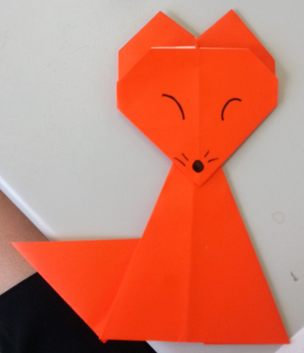 origami fuchs und tanuki marderhund 8900km berlin. Black Bedroom Furniture Sets. Home Design Ideas