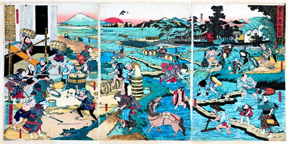 (c) 福徳神社 (wahrscheinlich), rechts oben im mittleren Teil sieht man den Schrein.