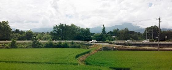 Nagano: Reisfelder und Berge, Berge und Reisfelder.